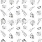 Muschel Sammler Nahtloses Vektormuster