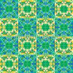 Karierte Polygon-Kaleidoskope Nahtloses Muster