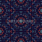 Dark Geometric and Floral Ornaments Repeating Pattern