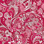 Girlish Paisley Dream Seamless Vector Pattern Design