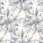 Flor Estrela de Natal Design de padrão vetorial sem costura