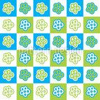 Schachbrett Blumen Designmuster