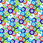 Augen Perlen Nahtloses Vektor Muster