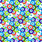 Eye Beads Seamless Vector Pattern