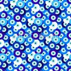 Abstrakte Augen Perlen Rapportmuster