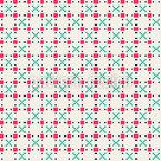 Ornamentos Pixelados Bonitos Design de padrão vetorial sem costura