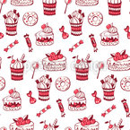 Sweet Tasty Desserts Seamless Vector Pattern Design