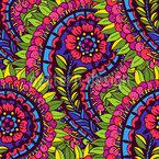 Prachtvolles Blumen Paisley Nahtloses Vektormuster