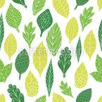 Schnecke Hinter Blättern Nahtloses Vektormuster