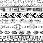 Trendige Tribal Streifen Nahtloses Vektormuster