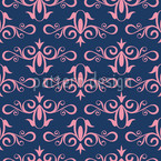 Cinderella Midnight Seamless Vector Pattern Design