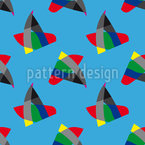 Bird or Fish Seamless Vector Pattern Design