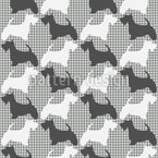 Scottish-Terrier On Check Seamless Vector Pattern Design