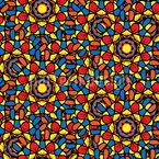 Gotisches Mosaik Nahtloses Vektormuster