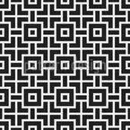 Labyrinth-Quadrate Nahtloses Vektormuster
