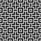 Labyrinth Squares Seamless Vector Pattern Design
