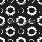 Flowery Circles Seamless Pattern