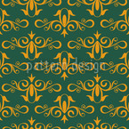 Cinderella Green Seamless Vector Pattern Design