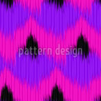 Funky Animal Ikat Seamless Vector Pattern Design
