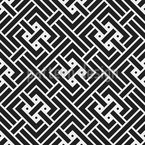 Maze Knots Seamless Vector Pattern Design