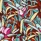 Wo Wilde Blumen Wachsen Nahtloses Vektormuster