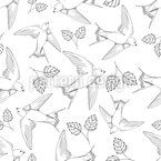 Swallow Seamless Vector Pattern Design