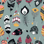 Magical Feathers Repeating Pattern