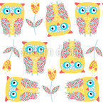 Dreamy Owls Pattern Design