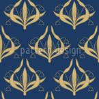 Lily Blue Seamless Vector Pattern Design