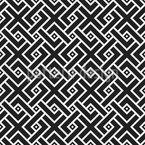 Überlappendes Mosaik Nahtloses Vektor Muster