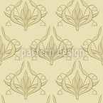 Lily Beige Seamless Vector Pattern Design