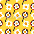 Fried Eggs In Pans Repeat Pattern