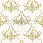 Lilly White Seamless Vector Pattern Design