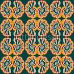 Snail Shells With Patina Vector Pattern