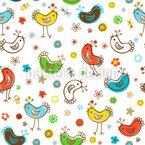 Junge Vögel Designmuster