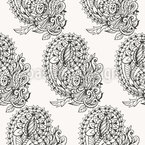 Paisley Zentangle Seamless Vector Pattern