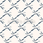 Autumn Willow Leaves Vector Pattern