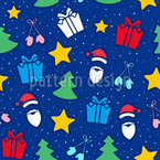 Christmas With Santa Pattern Design
