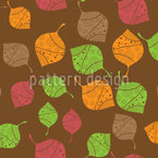Autumnal Filigree Leaves Seamless Vector Pattern Design