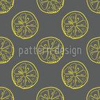 Konturen Zitronenscheiben Rapportmuster