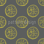 Outline Lemon Slices Repeat Pattern
