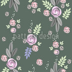 Delicate Rose Bouquet Seamless Vector Pattern Design