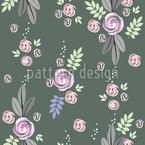 Delicato bouquet di rose disegni vettoriali senza cuciture