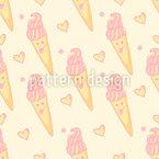 Süße Eiskreme Rapportmuster