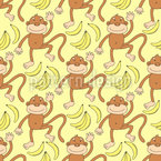 Monkeydance Seamless Vector Pattern Design