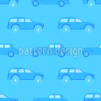 Monochrome Traffic Jam Seamless Vector Pattern Design