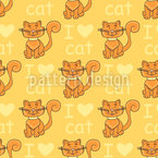 Heart Cat Design Pattern