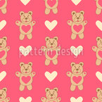 Cuddle Bear Seamless Pattern