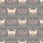 Christmas In A Row Seamless Vector Pattern