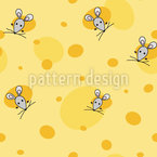 Mouse And Cheese Repeating Pattern